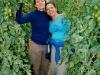 Com a Adri e muitos tomates